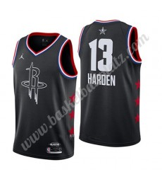 Houston Rockets Trikot Herren 2019 James Harden 13# Schwarz All Star Game Basketball Trikots Swingma..